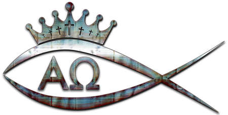 A fish with a crown