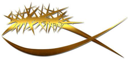 corona de espinas: Un pez con una corona de espinas
