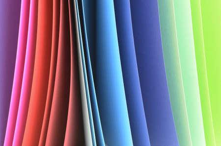 simulate: Color card simulate a rainbow  Stock Photo