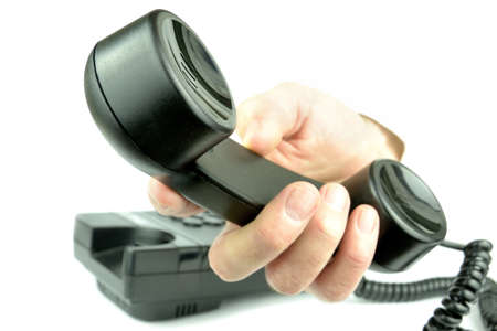 incoming: Incoming phone call. I pass a call for you. Stock Photo