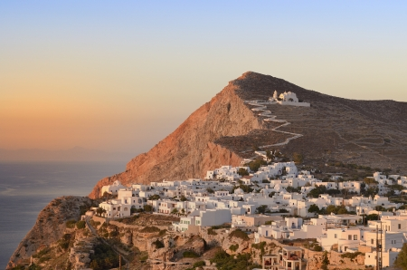 The Church of Panagia in Chora, Folegandros Cyclades  Stock Photo - 21823628