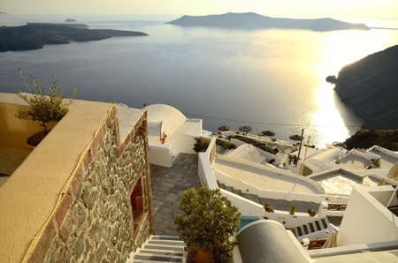 View of Santorini ,caldera and the Aegean Sea  photo