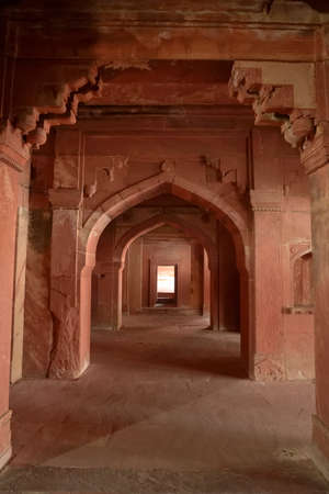 Fatehpur Sikri was a city built by the Mughal Emperor Akbar between 1571 and 1585, 35 km from Agra  photo