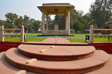 house of prayer: New Delhi, India - February 11, 2014  Martyr s Column at the Gandhi Smriti  Birla House   Mahatma Gandhi was shot by Nathuram Vinayak Godse, while on his way to evening prayer at Birla House  Editorial