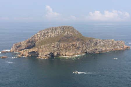cantabrian: Small island in the Cantabrian Sea, Asturias  Stock Photo