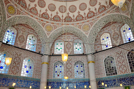 Istanbul, Turkey - September 24, 2014: Interior of the Tomb of Sultan Mehmed III near the museum Hagia Sophia.
