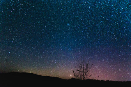 Starry fond de ciel nocturne.