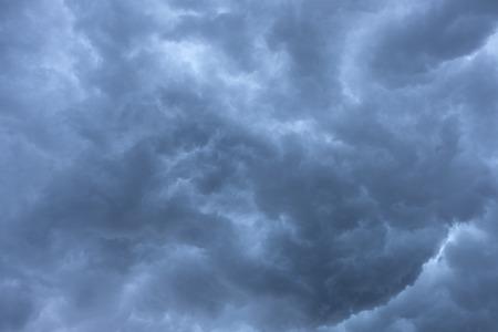 Dark dramatic cloud before thunder storm. Stock Photo