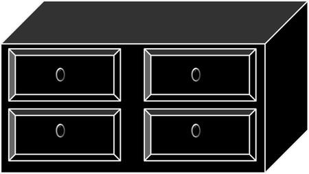 dresser: 4-Drawer Dresser Stock Photo