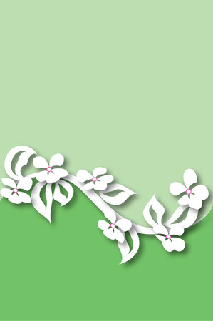 cut paper floral design on split ground Stock Vector - 30547190