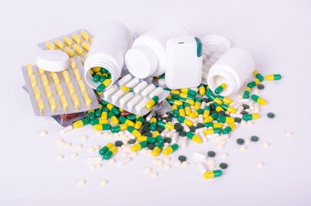 dietary supplements: Pills, dietary supplements and drugs, different type, color