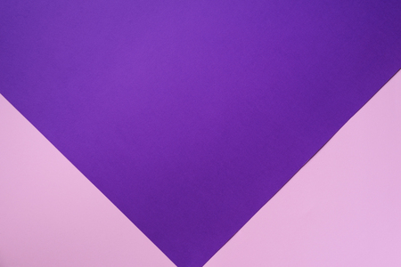 Texture background. Fashionable pink and purple color paper background. Top view. Minimal concept.
