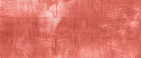 Trendy coral color cement concrete background. Grunge texture, wallpaper. Copy space. Banner. Concrete texture, stone ground. Stock fotó