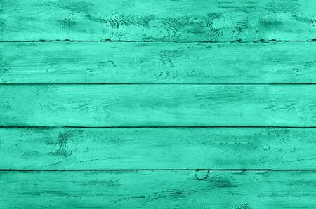 Wooden background. Vintage rustic texture, wallpaper in trendy mint green and turquoise color. Top view, copy space. Banner. Reklamní fotografie