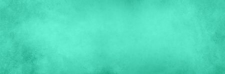 Abstract cement concrete background. Grunge texture, wallpaper. Trendy mint green and turquoise color. Top view, copy space. Banner.
