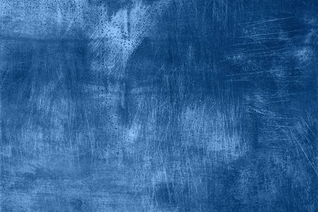 Abstract dark monochrome grunge texture with scratches, copy space. Banner. Trendy blue and calm color. Concrete texture, stone background.