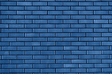 Bakstenen muur textuur. Achtergrond met kopie ruimte voor design. Biskaje Groene kleur van het jaar 2020 Stockfoto