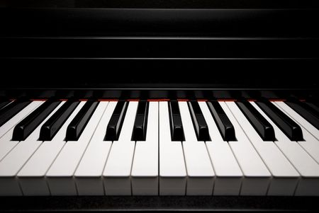 upright piano: Piano Stock Photo