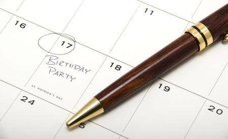 17th: Birthday on Calendar