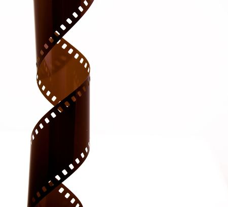 Film Strip Twist Isolated