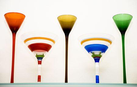 mantles: Martini Glasses