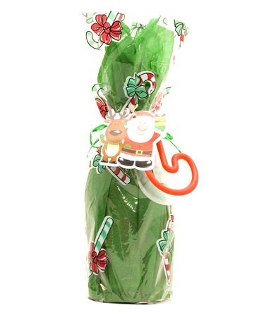 Holiday Gift w/ Green Wrapping Paper Stock Photo - 5936329