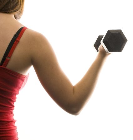 Woman Lifting Weights Stock Photo - 5936333