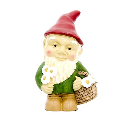lawn gnome: Little Garden Gnome Stock Photo