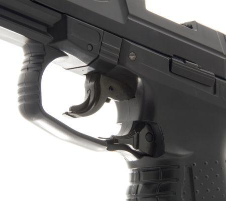 gatillo: Detalles de la macro de pistola Trigger  Foto de archivo