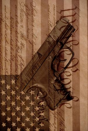 The Right To Bear Arms Conceptual Image Stock Photo - 7885675