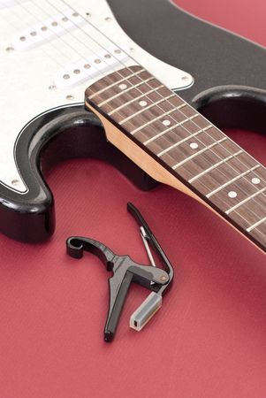 Guitar Capo with Electric Guitar