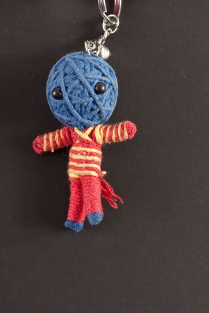 Blue Headed Voodoo Doll Keychain Stock Photo - 8017044