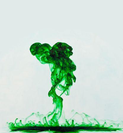 Groene vloeibare explosie achtergrond Stockfoto - 8017035