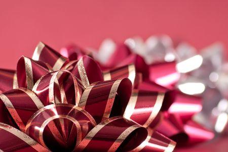 silver ribbon: Holiday Gift Wrapping