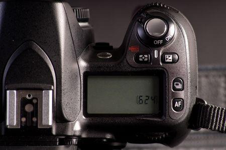 Digital SLR Camera Info Display Screen Stock Photo - 8079009