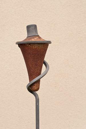 ignited: Outdoor Kerosene Lamp Stock Photo