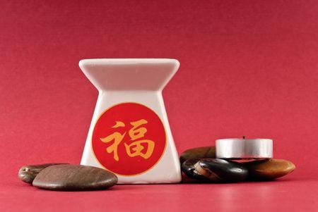 Oriental Theme Ceramic Oil Burner photo