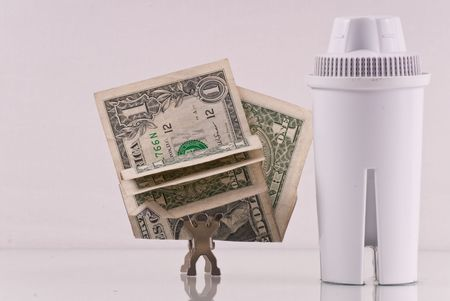 filtration: Save Money with Water Filtration Stock Photo