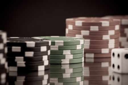 Gambling habit Conceptual Image photo