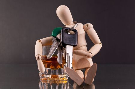 sobriety: Dont Be a Dummy ( Drinking and Driving Concept )