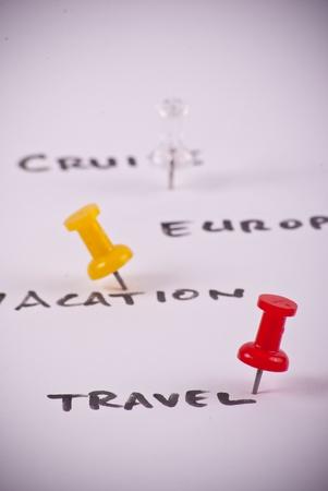 voyage: Pin rouge et des décisions de voyages