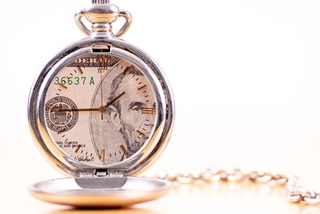 Conceptual of Image of Time is Money photo