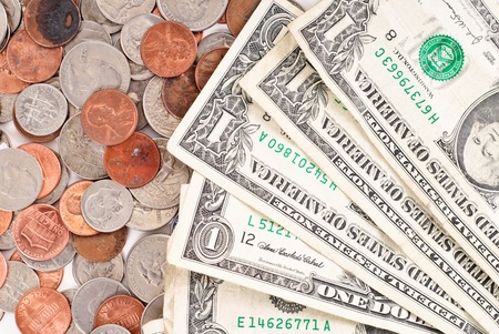 ringtones: Paper and Coin Currency Stock Photo
