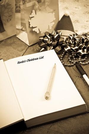 SantaS Christmas List Conceptual Image photo