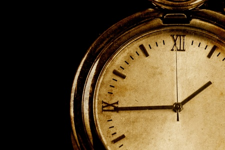 Conceptual Image of Time Passing in Grunge Texture Stock Photo
