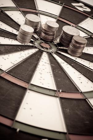 Abstract Conceptual Idea of Setting Financial Goals Stock Photo