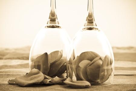 Voor een mooie gelegenheid conceptuele Sepia afbeelding Stockfoto