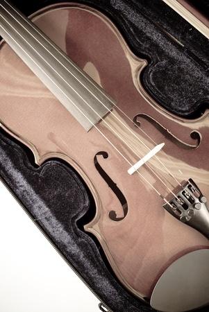 Vintage Photo of Violin in Velvet Case photo