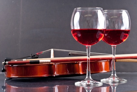 violins: Sensual Dining for Two Conceptual Image