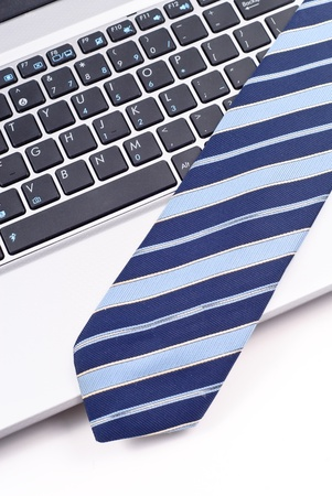 Neck Tie on Computer photo